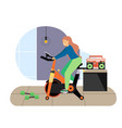 sport and fitness activities girl riding vector image vector image