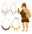 stone age cartoon woman shopping vector image