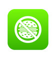 stop fast food icon digital green vector image