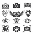 stylized pictures different photo equipment vector image vector image