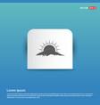 sun cloud icon - blue sticker button vector image