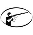 Trap shooting vector image vector image