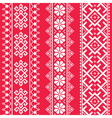 Ukrainian Belarusian white embroidery seamless pa vector image vector image