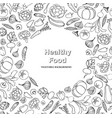 vegetable background healthy food frame decor vector image vector image