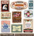Vintage labels collection set vector | Price: 3 Credits (USD $3)