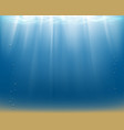 water surface and sandy bottom vector image