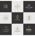 Wine card logo set vector image vector image