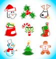 Xmas santa icons vector | Price: 1 Credit (USD $1)
