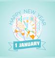 1 january happy new year vector image vector image