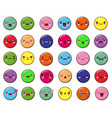 abstract funny flat style emoji emoticon set vector image vector image