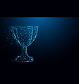 abstract trophy cup form lines and triangles vector image vector image