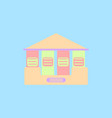 architecture greek building doric temple vector image vector image