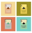 assembly flat icons poker playing cards vector image