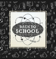 back to school poster sketchy notebook doodles vector image vector image