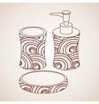 Bath accessory vector image