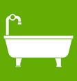 bathtub icon green vector image vector image