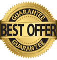 Best offer guarantee golden label vector image vector image