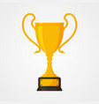 best simple championship or competition trophy vector image vector image