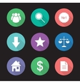 Business flat design icons set vector image vector image