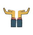 business hands support help receiving gesture vector image vector image