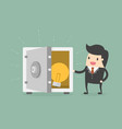 businessman and idea in safe vector image