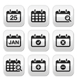 Calendar date buttons set vector image vector image