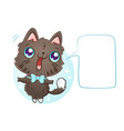 cat with bubble for text vector image