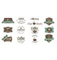 coffee logosvintage labels retro vector image vector image