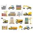 Construction Flat Elements Set vector image vector image