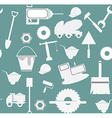 Construction icon set pattern vector image
