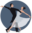 Couple dancing waltz vector image vector image