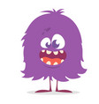 cute cartoon monster gremlin or troll smiling vector image vector image