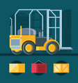 delivery service forklift icon vector image vector image