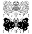 design set sacred geometry signs on demon wings vector image