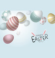 easter eggs falling background with copy space vector image