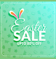 easter sale banner template with bunny ears vector image