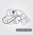 electric vehicles black and white outline drawing vector image vector image