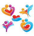 family and love symbols vector image