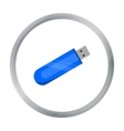 Flash drive icon in cartoon style isolated on vector image vector image