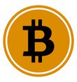 flat bitcoins icon vector image vector image