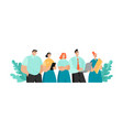 flat concept a company employees vector image
