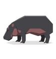 flat geometric hippopotamus2 vector image vector image