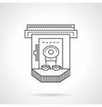 Flat line industrial coffee machine icon vector image