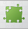 frame green background puzzle puzzle frame vector image