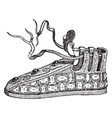 french shoe vintage engraving vector image vector image