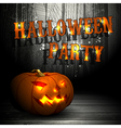 Halloween party design vector image vector image