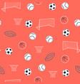 hand drawing balls seamless print design vector image