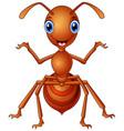 happy ant cartoon standing vector image
