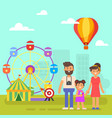 happy family on a weekend vector image vector image