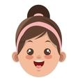happy little girl icon vector image
